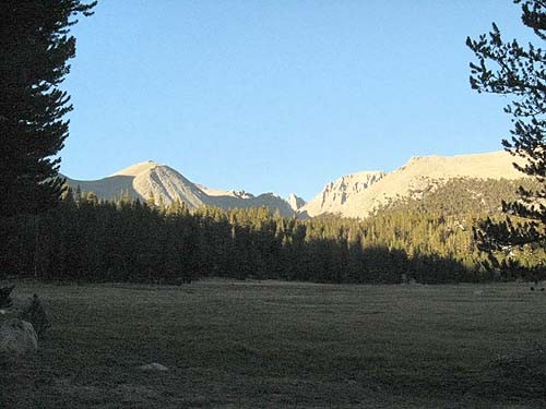 Crabtree Meadow and Sierra Crest at Sunset